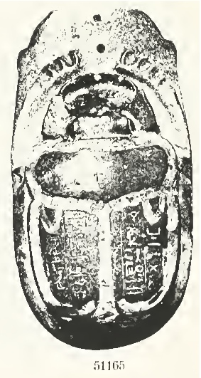 8. Heart Scarab of Yuya(?), photo from Quibell, The Tomb of Yuaa and Thuiu, 1908, pl. 49.
