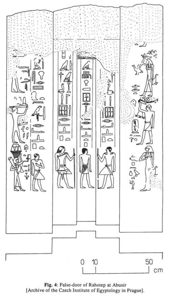 rahotep abusir false door