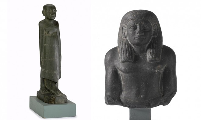Private stone statuary dating to the Middle Kingdom [A.1952.158 and A.1965.8] © National Museums Scotland